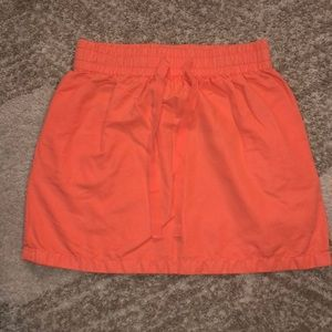 Bright Salmon J Crew Mini Skirt